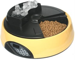 Автокормушка для сухого и влажного корма Feedex PF1 для кошек и собак на 4 кормления с емкостью для льда - фото 4842