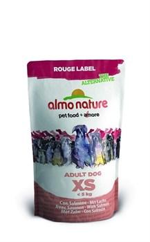 Сухой корм ALMO NATURE Rouge label The Alternative Extra Small_Salmon для карликовых пород с лососем - фото 5018