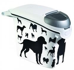 Контейнер для корма Curver PetLife  Собаки  черно-белый, на 6кг/15л, 23*50*36см - фото 5065