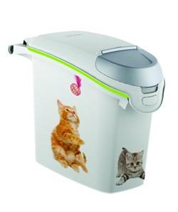 Контейнер для корма Curver PetLife  Сладкие котята на 6кг/15л, 23*50*36см - фото 5067