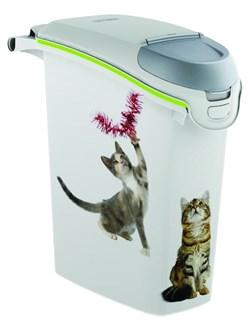 Контейнер для корма Curver PetLife  Кошачьи Цап-царапки  на 10кг/23л, 23*50*50см - фото 5068