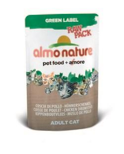 """Пауч ALMO NATURE Green label Chicken Drumstick 75% мяса для взрослых кошек """"Куриные бедрышки"""" - фото 7592"""