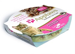 Консервы APPLAWS для взрослых кошек Нежное филе тунца с крабовым мясом Cat Succulent Tuna with Crab - фото 7736