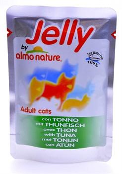 Пауч ALMO NATURE Jelly Cat Tuna для взрослых кошек с тунцом в желе - фото 7938