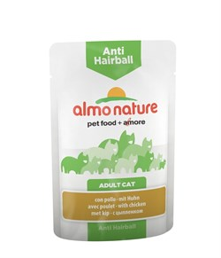 Пауч ALMO NATURE Functional для вывода шерсти у кошек с курицей Anti-Hairball with Chicken - фото 8003