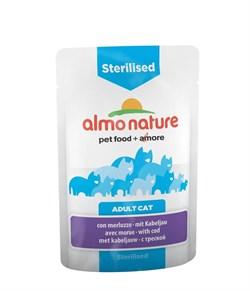 Пауч ALMO NATURE Functional для кастрированных кошек с треской Sterilised with Code - фото 8005