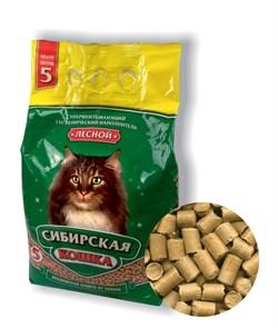 Древесный наполнитель Сибирская кошка Лесной - фото 8144