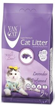 Комкующийся наполнитель VAN CAT Lavender с ароматом лаванды без пыли - фото 8151