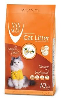 Комкующийся наполнитель VAN CAT Orange с ароматом апельсина без пыли