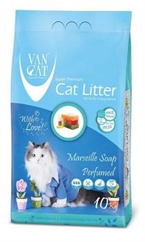 Комкующийся наполнитель VAN CAT Marseille soap с ароматом марсельского мыла без пыли