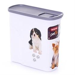 """Контейнер для корма Curver PetLife  """"Собачье счастье""""  черно-белый, на 1кг/2л, 20*9*19см - фото 8195"""