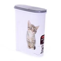 """Контейнер для корма Curver PetLife """"Кошка"""" на 1,5кг, 25*10*30см - фото 8202"""