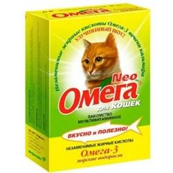 ОМЕГА NEO лакомство для кошек с Морскими водорослями 90 таб. - фото 8259