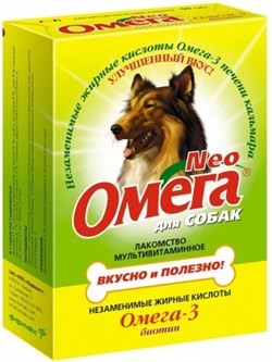 ОМЕГА NEO лакомство для собак с биотином 90 таб. - фото 8266