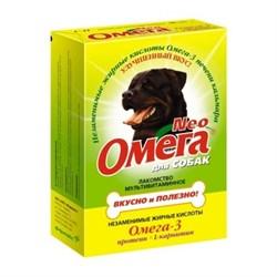 ОМЕГА NEO лакомство для собак с Протеином и  L-карнитином 90 таб. - фото 8271