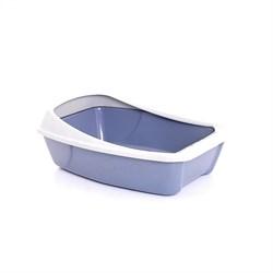 """Туалет """"Сибирская кошка Евро"""" для кошек глубокий с бортиком, 44x32x16 см - фото 8280"""