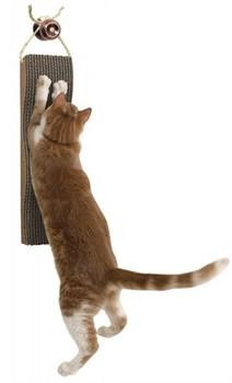 "Подвесная когтеточка Kitty City ""Царапка"" 5х13х46 см, картон, Hanging Scratcher - фото 8378"