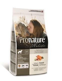 Сухой корм PRONATURE HOLISTIC Adult Turkey and Cranberry для взрослых собак всех пород с индейкой и клюквой - фото 8386