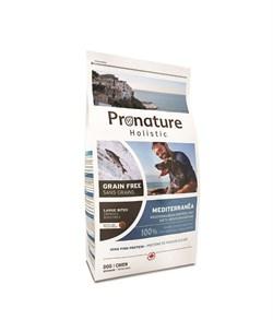 """Беззерновой сухой корм PRONATURE HOLISTIC Mediterranea для собак средних и крупных пород """"Средиземноморское меню с сельдью лососем и чечевицей"""" - фото 8400"""