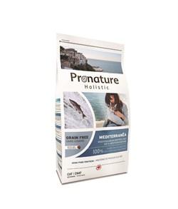"""Беззерновой сухой корм PRONATURE HOLISTIC Mediterran для взрослых кошек """"Средиземноморское меню с сельдью лососем и чечевицей"""" - фото 8446"""