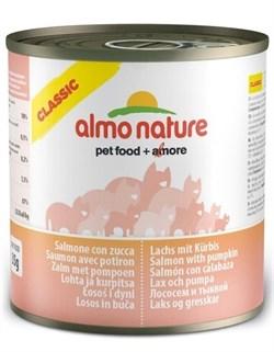 Консервы ALMO NATURE Classic Adult Salmon and Pumkin для взрослых кошек с лососем и тыквой - фото 8544