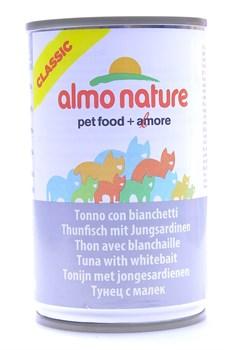 Консервы ALMO NATURE Classic Adult Tuna and White Bait для взрослых кошек с тунцом и сардинками - фото 8556