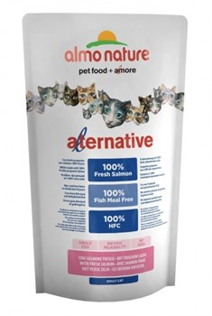 Сухой корм ALMO NATURE Alternative Salmon/Rice для взрослых кошек со свежим лососем - фото 8628