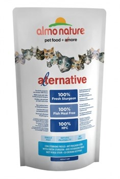 Сухой корм ALMO NATURE Alternative Sturgeon/Rice для взрослых кошек со свежим осетром - фото 8630