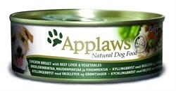 Консервы APPLAWS для собак курицей, говяжьей печенью и овощами Dog Chicken/Beef Liver/Veg - фото 8672