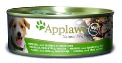 Консервы APPLAWS Dog Mackerel/Seaweed/Sweetcorn для собак с скумбрией, морской капустой и сладкой кукурузой - фото 8684