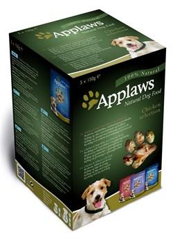 Пауч APPLAWS Dog Chicken для собак куриное ассорти набор 5 шт - фото 8688
