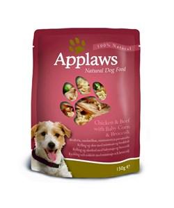 Пауч APPLAWS Dog Chicken/Beef/Veg для собак с курицей говядиной и овощами - фото 8692