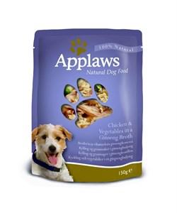 Пауч APPLAWS Dog Chicken/Veg для собак с курицей и овощами - фото 8694