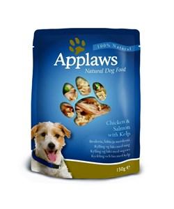 Пауч APPLAWS Dog Chicken/Salmon/Kelp для собак с курицей лососем и морской капустой - фото 8696
