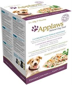"""Пауч APPLAWS Dog Jelly Pouch Finest Selection в желе для собак """"Великолепие вкусов"""" набор 5 шт - фото 8698"""