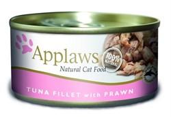 Консервы APPLAWS для взрослых кошек с филе тунца и креветками Cat Tuna Fillet/Prawn - фото 8724