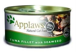 Консервы APPLAWS для взрослых кошек с филе тунца и морской капустой Cat Tuna Fillet/Seaweed - фото 8726