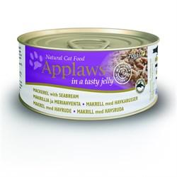 Консервы APPLAWS Cat Jelly Mackerel/Seabream для взрослых кошек со скумбрией и морским окунем в желе - фото 8735