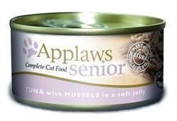 Консервы APPLAWS Senior Cat Jelly Tuna/Mussels для пожилых кошек с тунцом и мидиями в желе - фото 8741