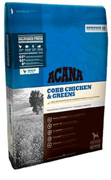 Сухой корм ACANA Heritage COBB CHICKEN/GREENS для взрослых собак всех пород с цыпленком и зеленью - фото 8752