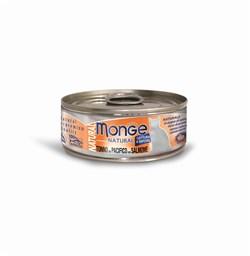 Консервы MONGE для взрослых кошек с тунцом и лососем 75% мяса - фото 8932