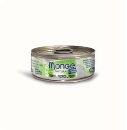 Консервы MONGE для взрослых кошек с тунцом и курицей 75% мяса - фото 8936