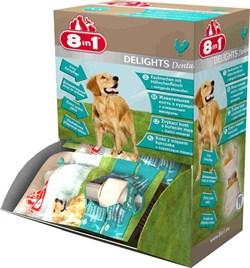 8in1 DENTAL DELIGHTS XS косточки с куриным мясом для мелких собак с минералами 7,5 см - фото 8968