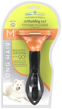 FURminator для собак средних длинношерстных пород Long Hair Medium Dog 7 см - фото 9281