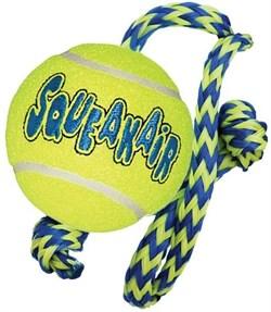 """Игрушка для собак KONG AIR """"Теннисный мяч"""" с канатом - фото 9305"""