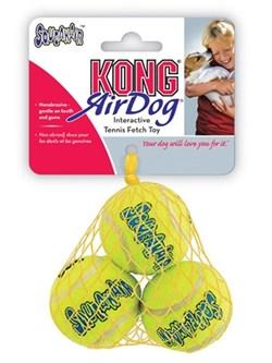 """Игрушка для собак KONG AIR """"Теннисный мяч"""" 4 см (3 шт) - фото 9309"""