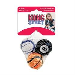 """Игрушка для собак KONG AIR SPORT """"Теннисный мяч"""" 4 см (3 шт) - фото 9321"""