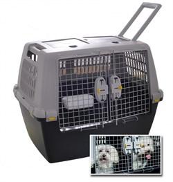 Переноска Stefanplast Touring серая с металл. дверцей для авиаперевозок (для 1-2 собак до 30 кг) - фото 9410
