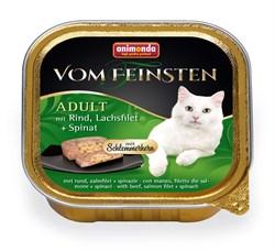 Консервы ANIMONDA Vom Feinsten Adult для взрослых кошек с говядиной, филе лосося и шпинатом - фото 9442