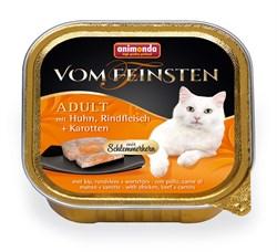 Консервы ANIMONDA Vom Feinsten Adult для взрослых кошек с курицей, говядиной и морковью - фото 9446